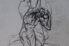 Untitled - Conte on paper
