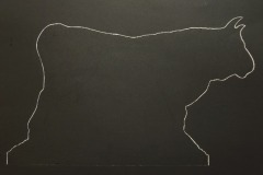 Black Bull - Intaglio print/etching/monotype - Black ink on Somerset